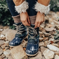 LOOZYKIT Winter Splash Waterproof Girls Boots Ski Cloth Warm Snow Boots Kids Boys,Fleece Children Shoes Girls Mother Daughter