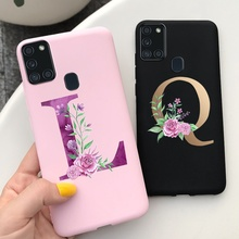 For Samsung Galaxy A21s Case Fashion Letters Phone Soft Phone Cover For Samsung A21s A217F 6.5'' Full Cover SM-A217F A 21 s Case
