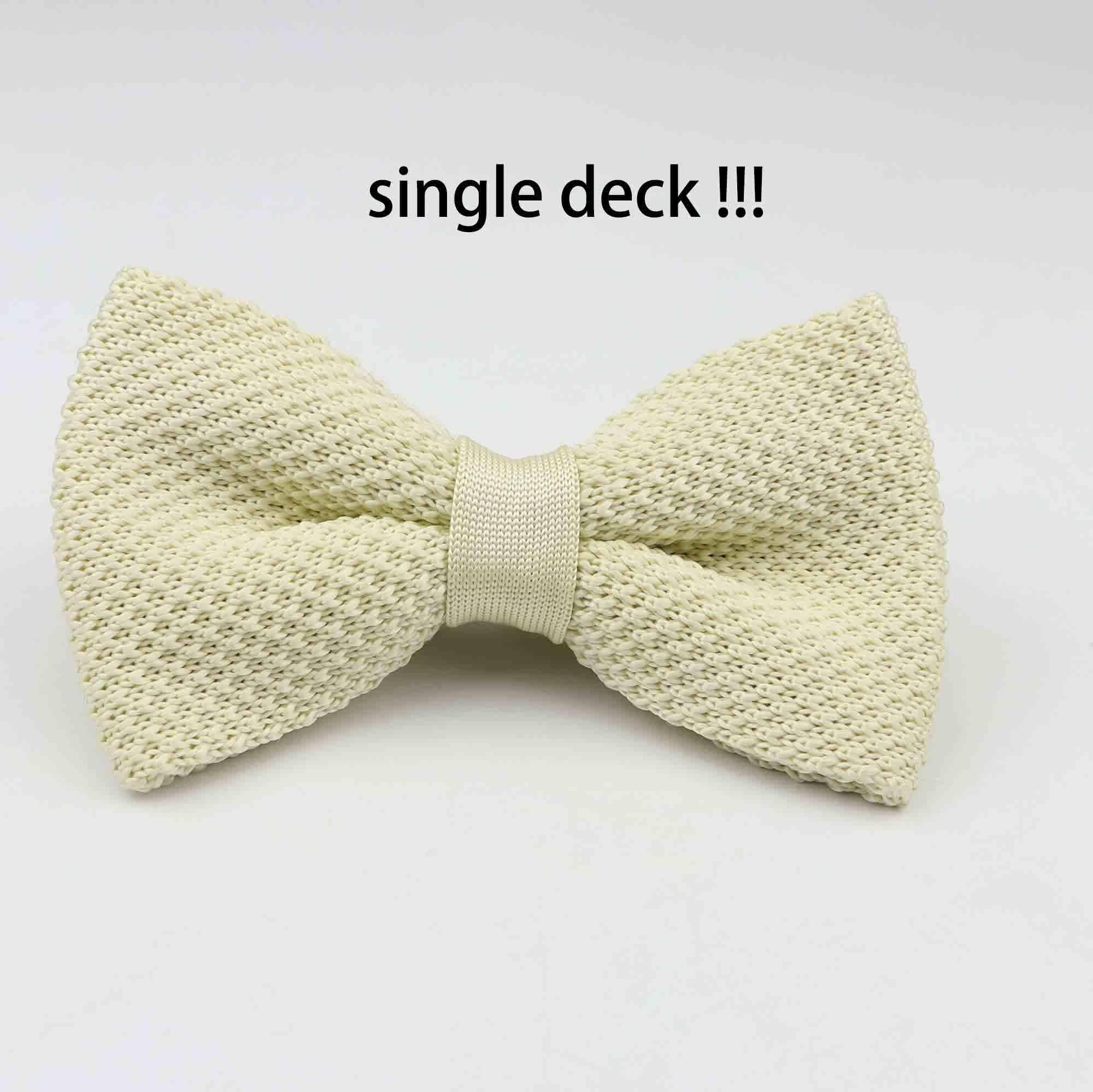 Мужские галстуки для шеи, смокинг, вязаная бабочка, Одноцветный галстук-бабочка, толстый двухслойный предварительно завязанный Регулируемый вязаный Повседневный галстук - Цвет: 18