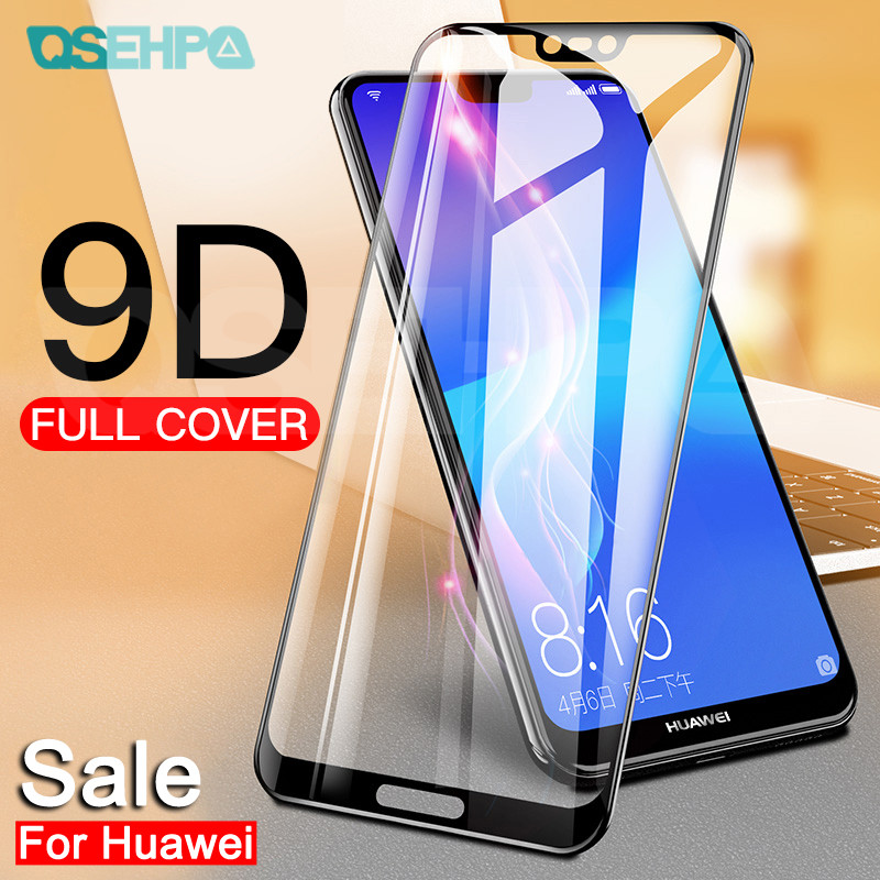9D Tempered Glass On The For Huawei P20 Pro P10 P9 Lite Plus Huawei P Smart 2019 Screen Protector Protective Glass Film Case
