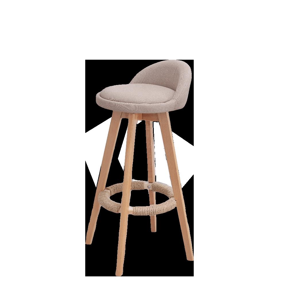 Solid Wood Bar Chair Modern Minimalist High   Stool Home   Front Desk Cash Register
