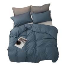Комплект постельного белья jivetulu хлопковый однотонный простой