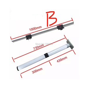 Caravan folding table aluminum RV side wall table parts RV accessories folding table legs with two heights