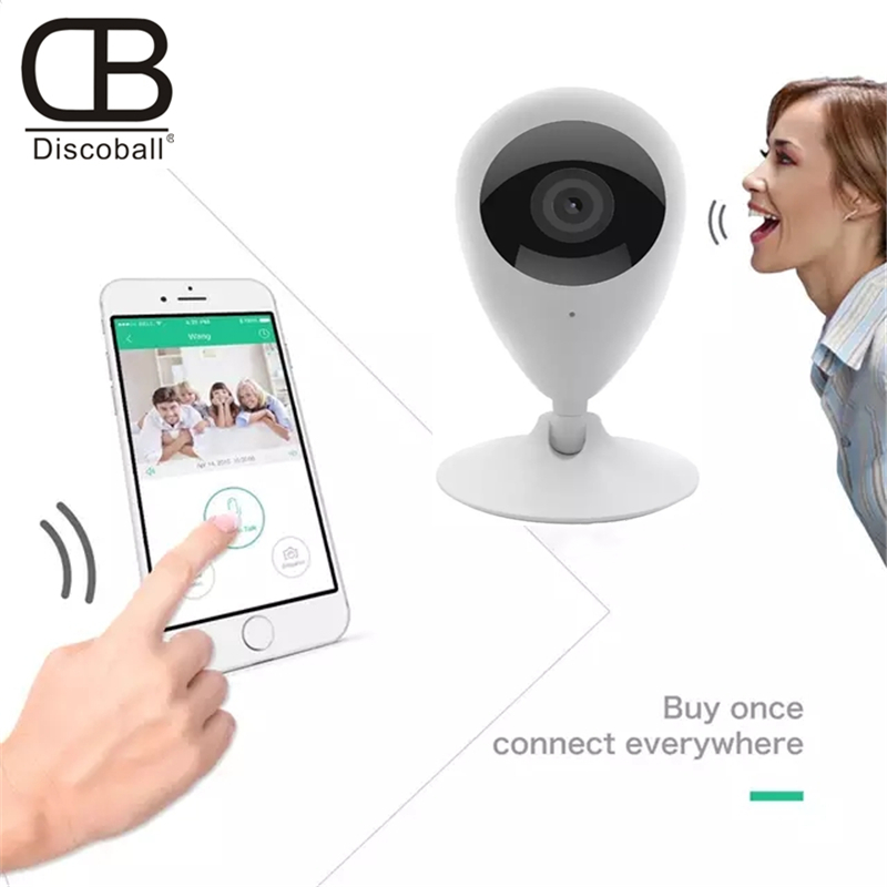 1080p Ip Camera Wifi IR Night Vision 2 Way Talk PIR Motion Sensor Cry Baby Alarm For IOS Android Max 3 Person Live Video 64GB