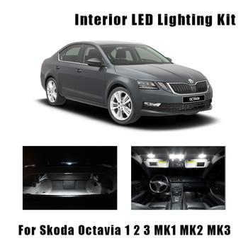 White Canbus Car LED Lamp Interior Dome Map Reading Lights Kit For 1996-2017 Skoda Octavia 1 2 3 MK1 MK2 MK3 Sedan Combi