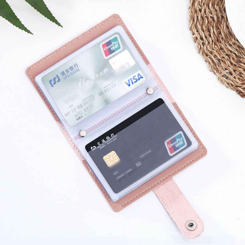 26 カードスロット女性のクレジットカード財布ファッションかわいいカードホルダーキャンディーカラー韓国財布カード会員