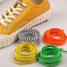 1 пара, 100 см, без галстука, эластичные шнурки, резиновая обувь для кроссовок, кружевные детские безопасные однотонные повседневные шнурки