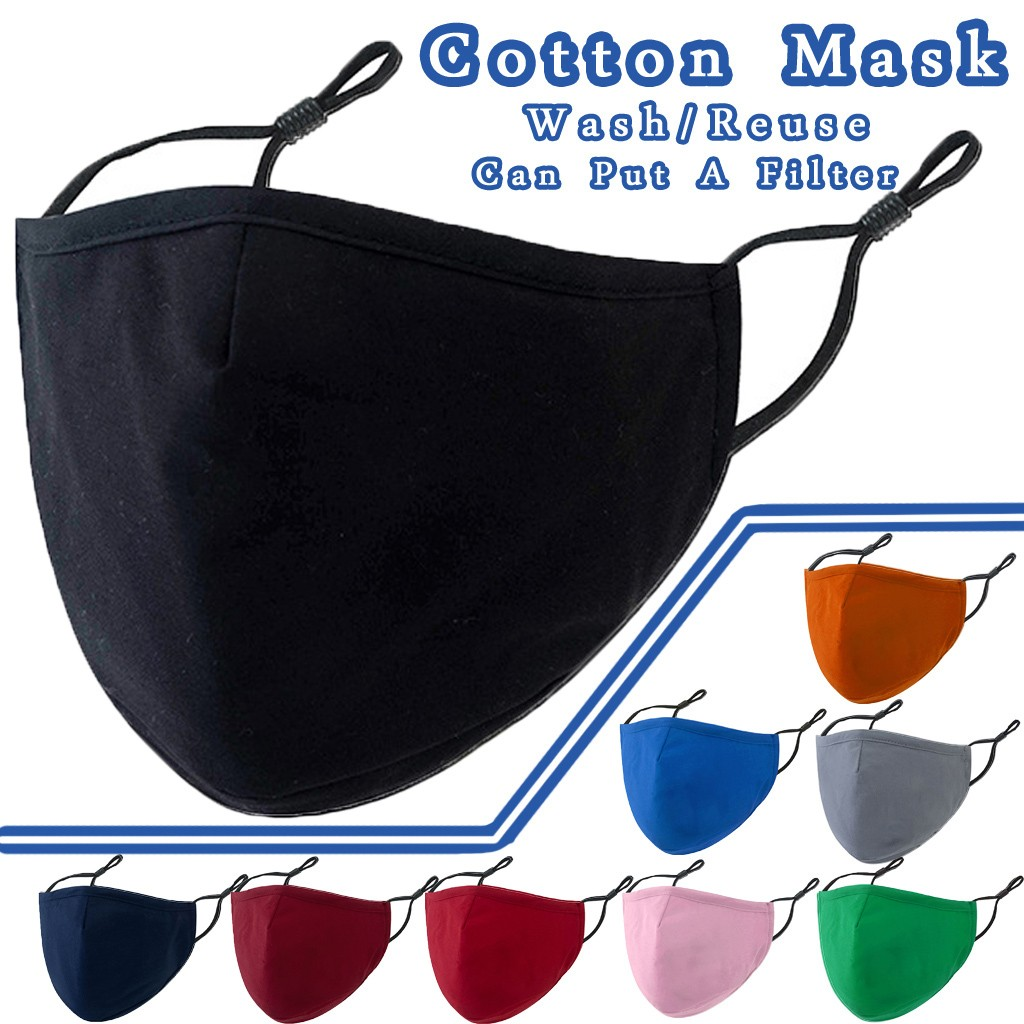 Маска рта для взрослых Pm2.5, хлопок, для езды на велосипеде, моющаяся, регулируемая, черная, красная, розовая, 1 шт.