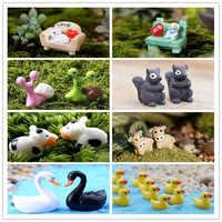 Figuras de animales en miniatura para manualidades, figuras de animales, caracoles, perros, gatos y vacas, decoración para jardín de hadas en miniatura, bonsái, Paisaje en maceta