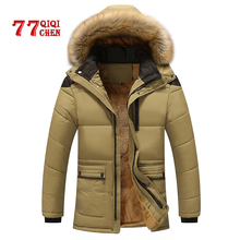 Mens Winter Jackets Parka Casual Thick Warm Jacket Coats Parkas Hombre with Hooded Long Overcoats Male Brand 7XL