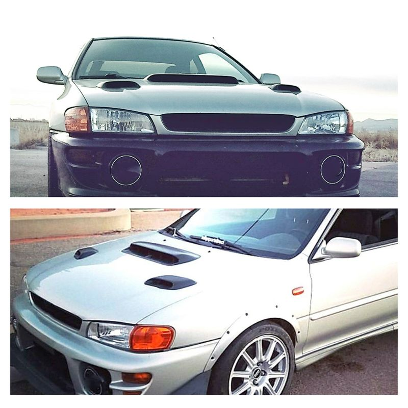 Hood Vent Induction Scoop FRP for 99 01 Subaru Impreza GC8 STi WRX 2 5RS in Hoods from Automobiles Motorcycles