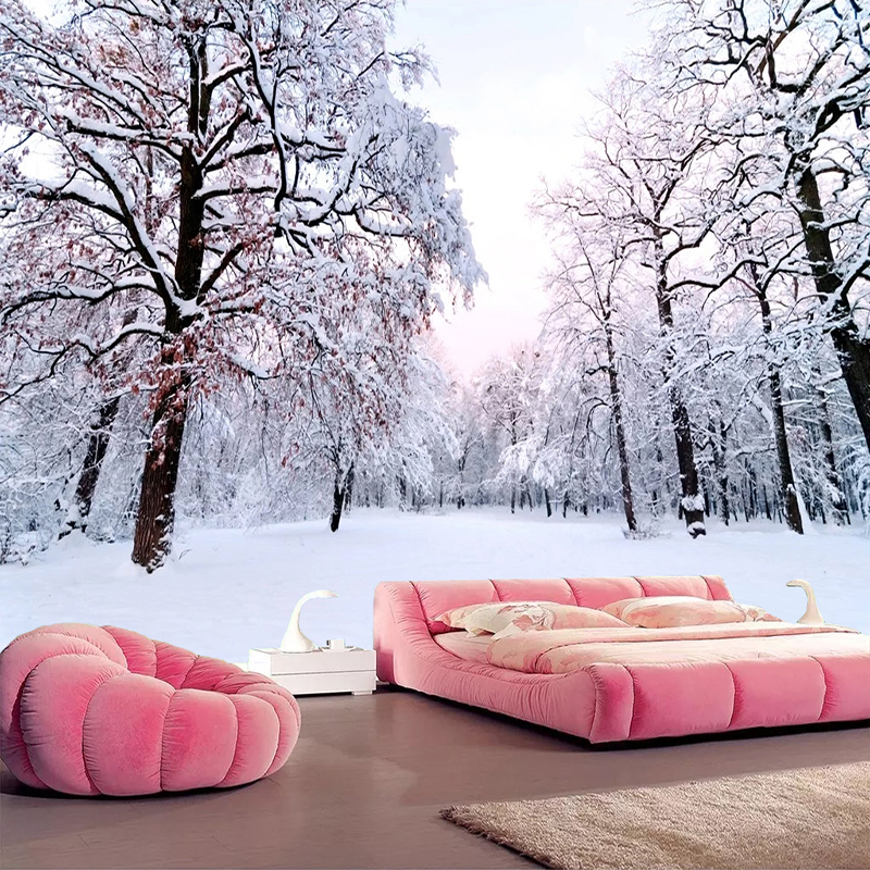 Custom 3D Wallpaper Home Decor Snow Scenery Forest Large Mural Art Wall Painting Living Room Bedroom Background Photo Wall Paper