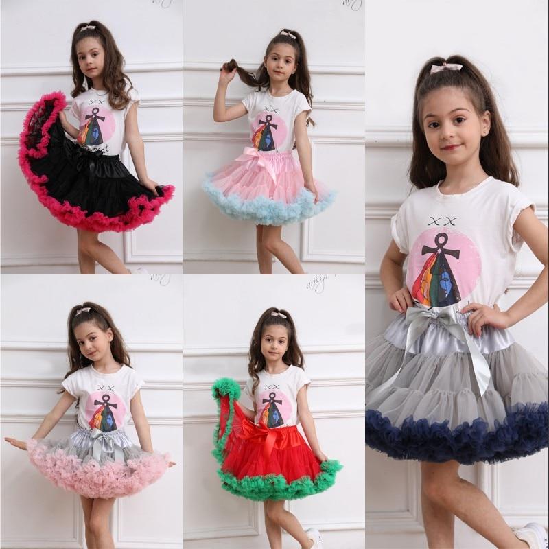 E JUE SHUNG Children Petticoats Little Girl Dress Tutu Skirt Kids Princess Pettiskirt Birthday Party Underskirt Crinoline
