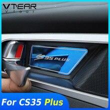 Vtear עבור Changan CS35 בתוספת פנים קישוט רכב פנימי דלת Mouldings ידית קערת כיסוי סטיילינג אביזרי לקצץ חלקי 2020