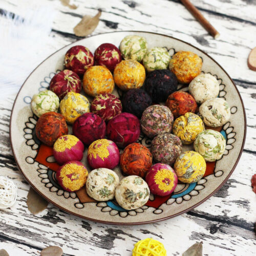 Handmade 10 Kinds Chinese Mix Blooming Tea Ball Flowering Tea Buds Balls 500g