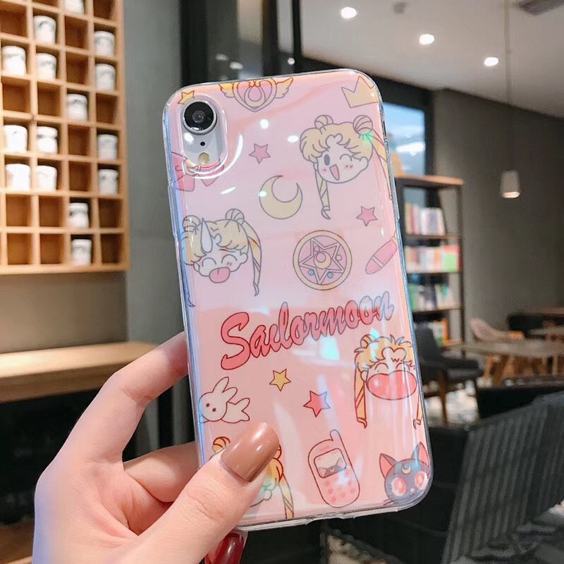 Blu-ray Lovely Sailor Moon Case For Huawei Mate 20 pro P30 P20 Nova 5i nova 4 Soft Cartoon Cute Sailor Moon IMD Girl Phone Case image