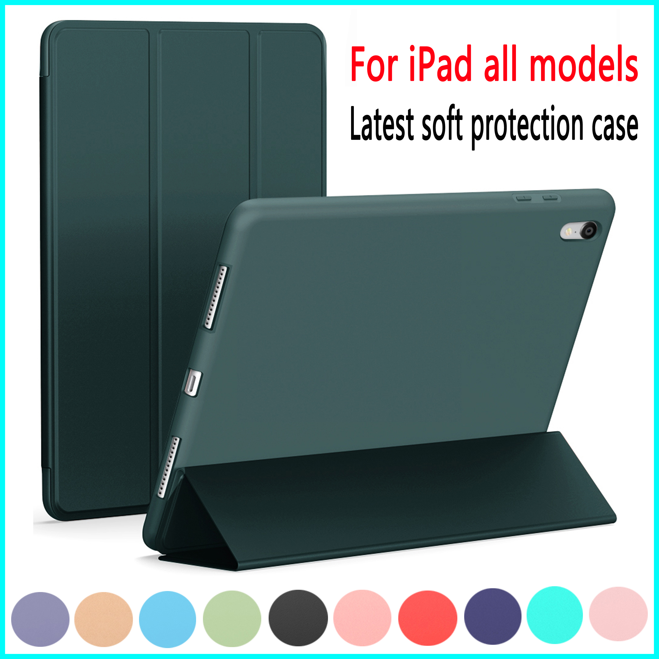 Celular Case Para Novo iPad 2020 Ar 3 11 4 10.9 polegada Case Capa para iPad Air 10.5 10.2 9.7 Pro mini 1 2 3 4 5 2019