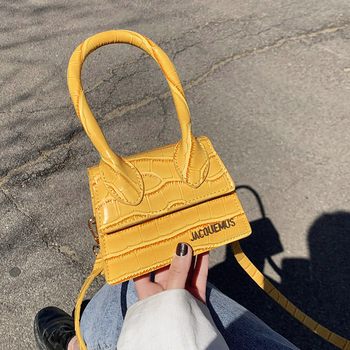 Jacquemus Mini Handbags Girls Small Tote Bags For Women 2020 Hand Bag Designer Luxury Famous Brand PU Leather Shoulder Bag Lady
