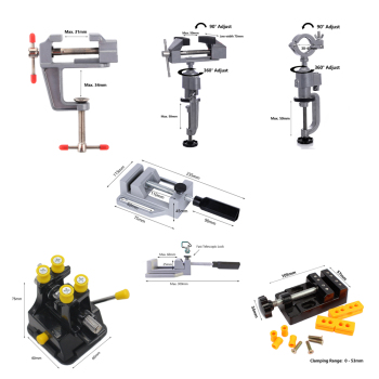 Hobby Clamp Sew Work Table Bench Drill Stand Press Machine Vise Locksmith Workbench Mini Tool Vice Coordinate Milling Table metex milling machine clamping set m12 58pce mill clamp kit vice