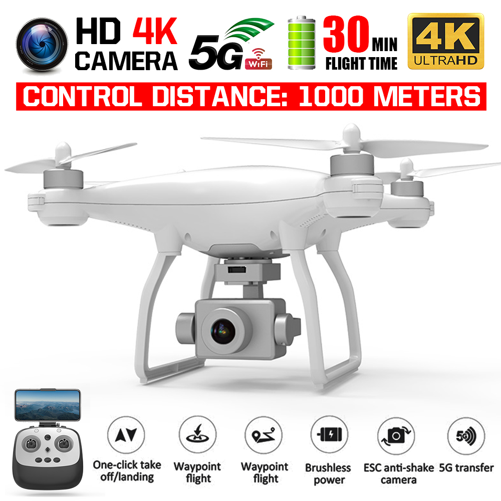 KALIONE K777 GPS Drone 4K Two-Axis Gimbal Stabilizer ZOOM Camera 1KM 5G WIFI Brushless SD Card Professional 30Mins Time VS X35