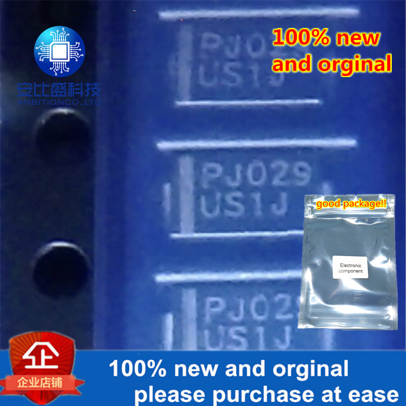 100pcs 100% New And Orginal US1J 1A600V Quick Recovery DO214AC Silk-screen US1J In Stock
