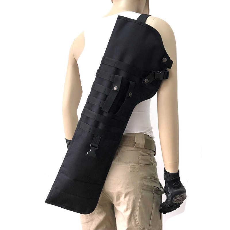 戦術的なライフルショットガン鞘ホルスター軍事軍銃バッグ暴行散弾銃ライフルロング銃ナイフ狩猟バッグ軍ポーチケース