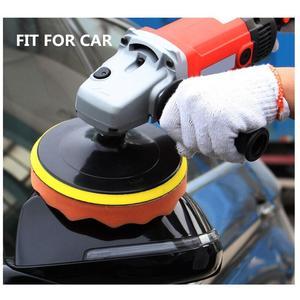 "Image 2 - 7Pcs Glass/Car Polishing 3"" Polishing Head Wave Sponge Polishing Pad Wheel Buffing Pad Set with M10 Drill Adaptor Electric Drill"
