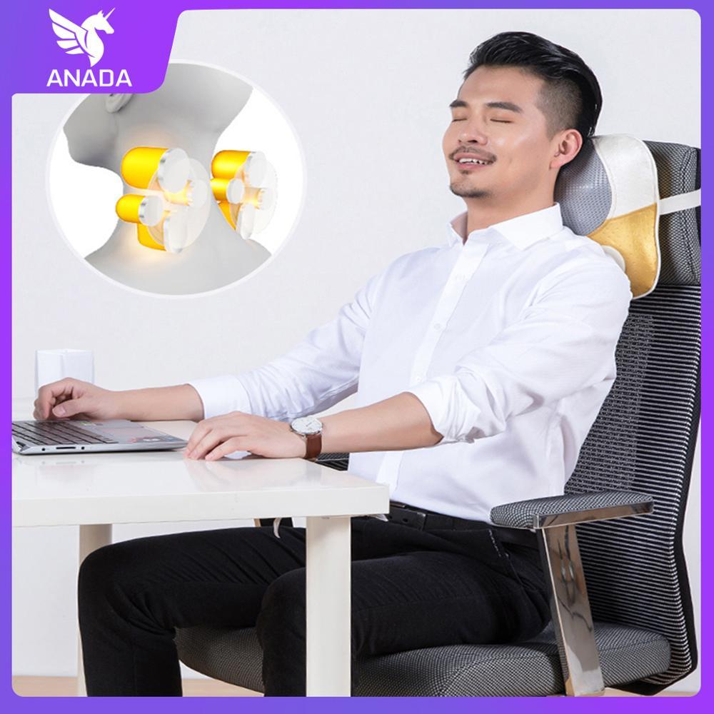 Anada Massage Pillow Multifunction Massager Cushion Cervical Lumbar Leg Shoulder Body Massager Relieve The Pain Health CareTools