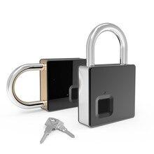 Fipilock inteligente bloqueio de impressão digital keyless ip65 à prova danti água anti roubo segurança cadeado porta bagagem caso lock com chave & cabo