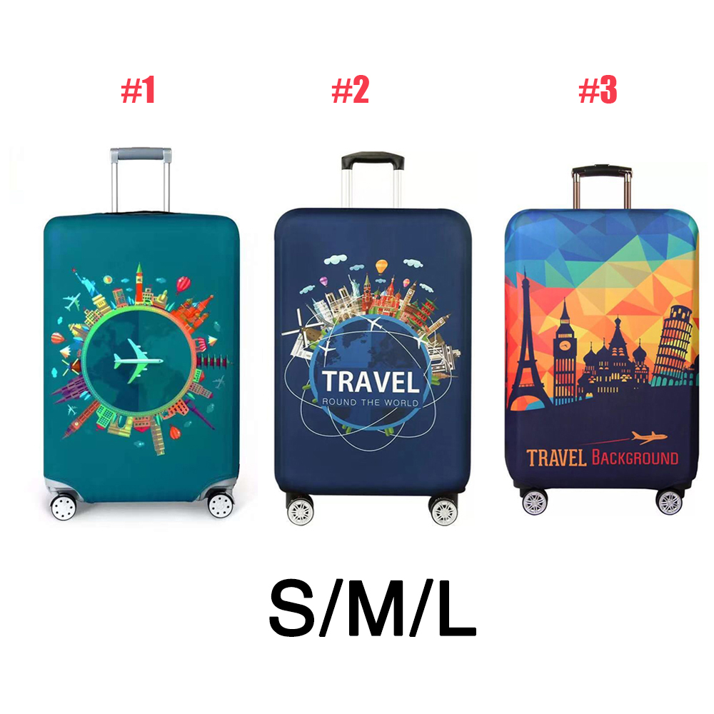 Elasticity Fabric Luggage Case Antidusting Dustproof Elastic Protective Cover Polyester Anti-Scratch Luggage Cover Thicken