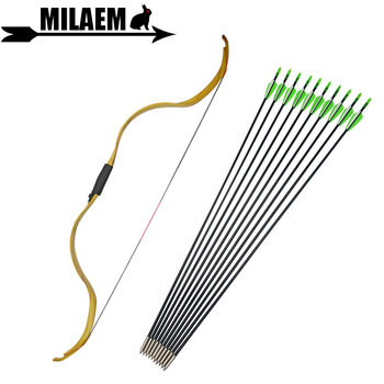 20-30lbs Archery Traditional Recurve Bow And Arrow Set Fiberglass Arrow Removable Bow Riser Longbow Hunting Shooting Accessories