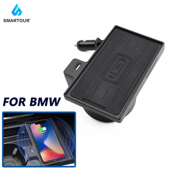 10W Qi Car Phone Holder For Bmw X5 X6 2008-2019 Wireless Charging Car charger Holder For Iphone Well For Carplay