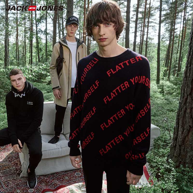 JackJones Men's Letter Printed Sweater Pullover Top Menswear 219324511