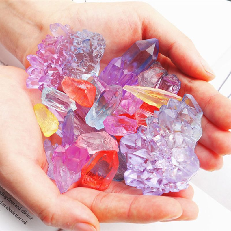 Natural Druzy Stone Quartz Rock Cluster Epoxy Resin Mold Jewelry Making Tools