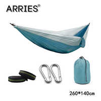 Portable Camping Parachute Hammock Survival Garden Outdoor Furniture Leisure Sleeping Travel Double Hanging Bed 270*140cm