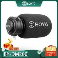 BOYA BY DM200 Lightning Stereo Microphone Stereo X/Y for iPhone Xs Xr X 8 Plus iPad Air iPod Touch Apple MFI Certified Connector