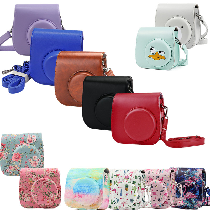 cheapest Mini Camera Case Bag Instant Film Cameras PU Leather Cover for Fujifilm Instax with Shoulder Strap  For Instax Mini 9 Mini 8