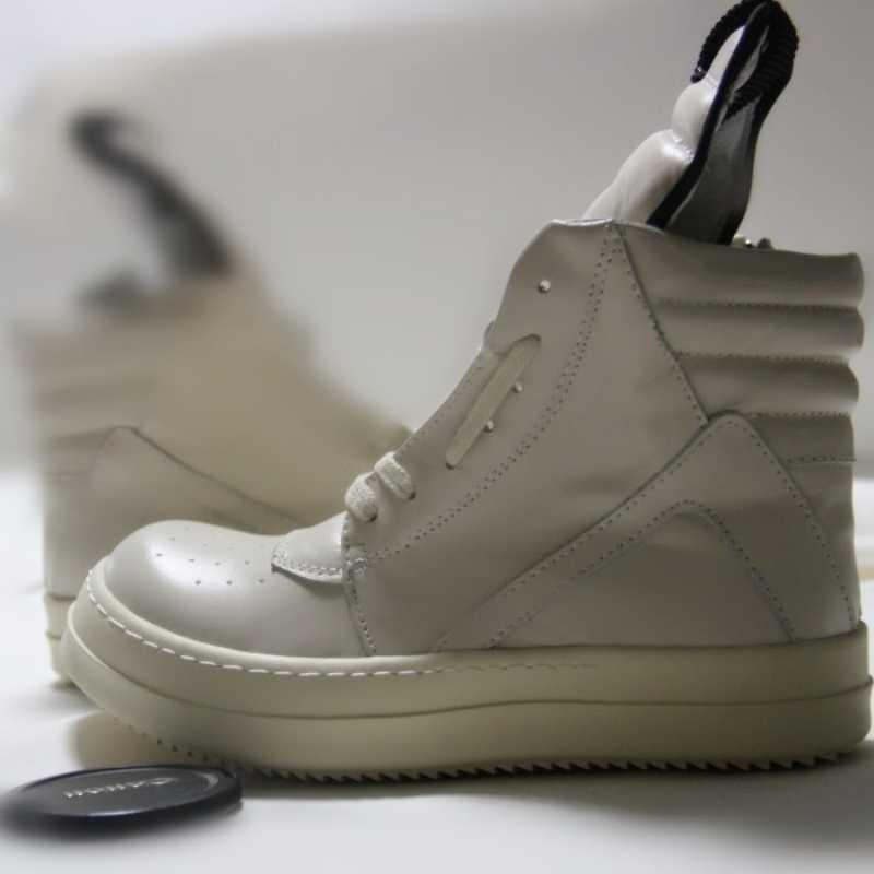 Mężczyźni buty kostki luksusowe adidasy grube platformy buty ze skóry wołowej zasznurować casualowe buty sportowe Zip mieszkania miłośników buty za kostkę duży rozmiar