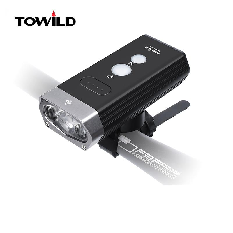 TOWILD BR1800 / BR1200 Bicycle Light Built-In 5200mAh IPX6 Waterproof USB Rechargeable Bike Light as Power Band bike accessories