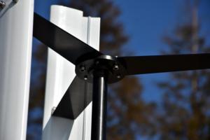 Image 2 - 600 w 12 v 24 v cor branca h gerador de turbina eólica vawt eixo vertical energia residencial com pwm/mppt impulso carregador controlador