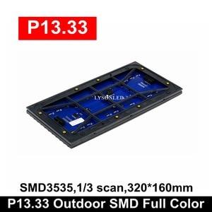 Image 2 - משלוח חינם P13.33 חיצוני SMD מלא צבע LED מודול 24x12 נקודות חלון פרסום מקורה גלילה סימן לוח