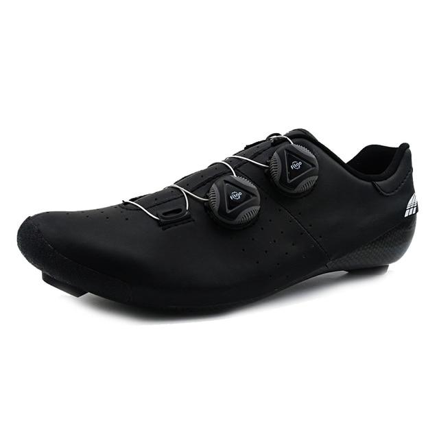 Heatmoldable fibra de carbono ciclismo sapatos de estrada pro dois laços auto-travamento da bicicleta respirável equitação bota das mulheres dos homens original cidade 5