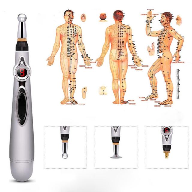 2020 Newst Electronic Acupuncture Pen Electric Meridians Laser Therapy Heal Massage Pen Meridian Energy Pen Relief Pain Tools