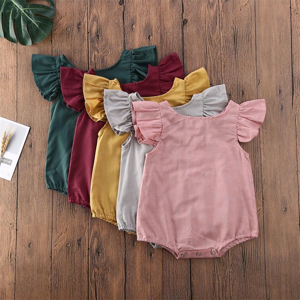 Newborn Infant Baby Boy Girl  0-24M Romper Bodysuit Jumpsuit Clothes Outfits