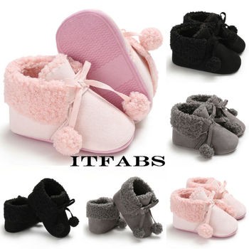 Newborn Baby Toddler Shoes Fashion Cotton Warm Snow Boots Infant Boy Girl Soft Sole Crib Shoes Cute Lace Up Prewalker 0-18M fashion baby shoes newborn girls boys warm rainbow snow boots toddler first walkers infant sweet soft sole prewalker crib shoes