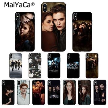 MaiYaCa Twilight Bella Edward High Quality Silicone Phone Case for iPhone 11 pro XS MAX 8 7 6 6S Plus X 5 5S SE XR case image