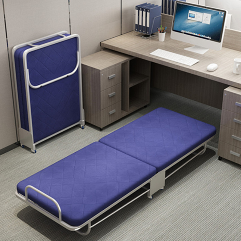 Folding Bed Single Nap Bed Double Escort Camp Bed Reinforcement Office Nap Simple Bed Home Portable