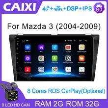 CAIXI lecteur multimédia pour voiture Mazda 3, 9 pouces, Android 9.0, 2 go + 32 go RAM, 2 din, DVD, pour Mazda 3, 2004, 2005, 2006, 2013 maxx axela