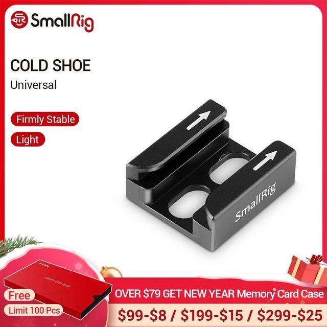 """SmallRig קר נעל מתאם עם שתי כיפוף תואם עבור אוניברסלי אביזרי מצלמה עם 1/4 """"אשכולות 1960"""