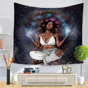 Tapestry African American female art tapestry wall hippie style bedroom living room background cloth tapestry